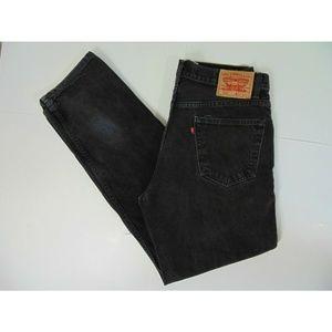 Levis Men 550 34 x 34 Relaxed Black Jeans Pants